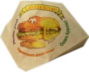 Hamburger tasak (papír, nyomott) 4 színű