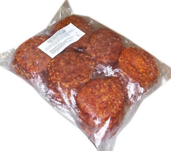 Készre sütött marha hamburger húspogácsa 72g.