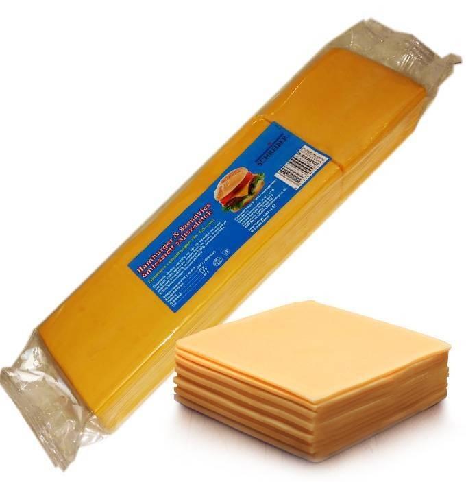 Cheddar ömlesztett sajtszelet 1,082kg/88 szelet