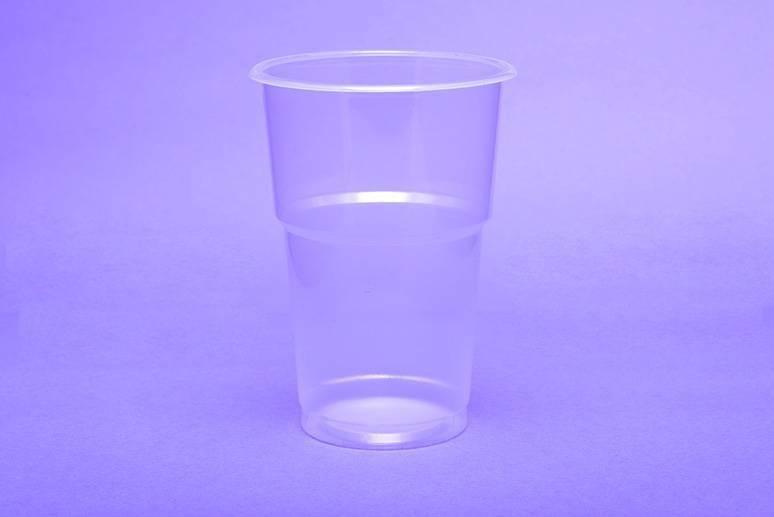 Sörös pohár 4 dl.PP víztiszta