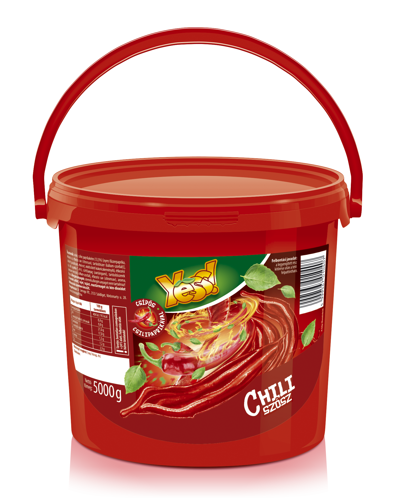 Chili szósz vödrös Yess 5kg