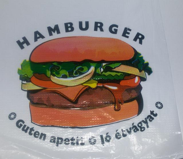 Hamburger tasak (fólia nyomott)