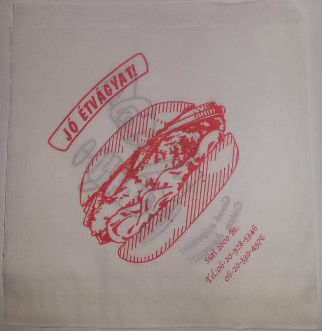 Hamburger tasak (papír, nyomott)