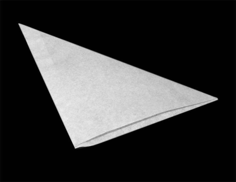 Háromszög tasak 18x18cm